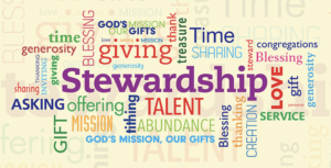 Stewardship Word Art