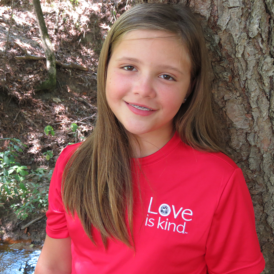 Kaitlyn Spaugh in a red Moravian shirt